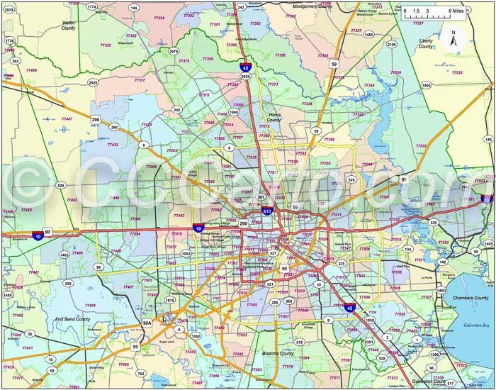 77084 Harris County Zip Code Map | Houston Area Zip Codes