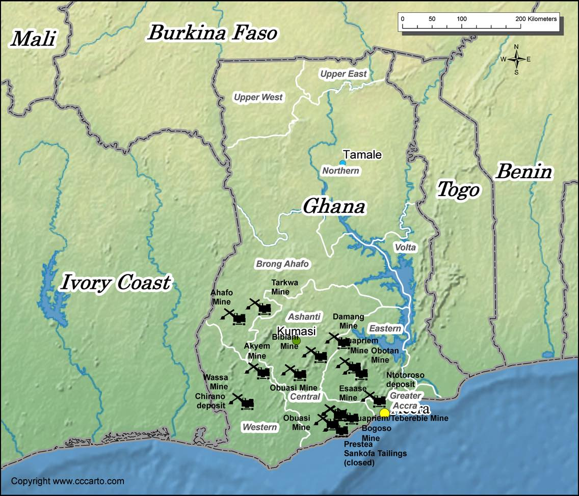Gold Mines In World Map.Ghana Gold Mines Map World Gold Mines