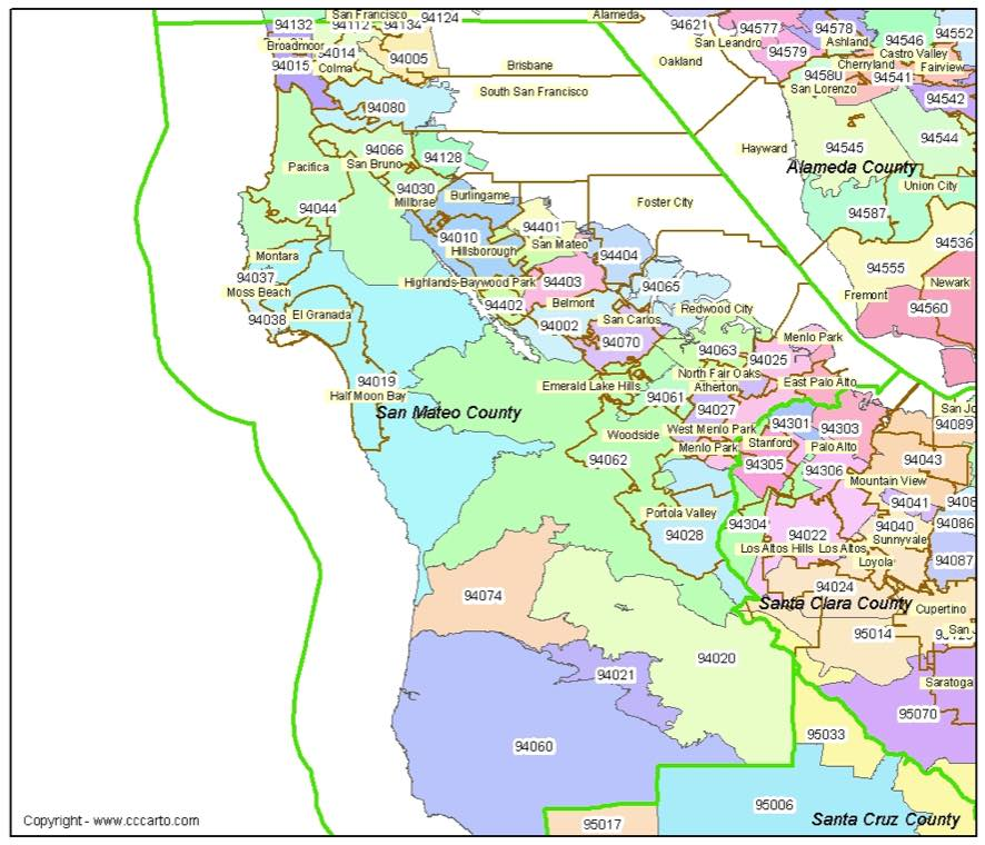 San Mateo, CA Zip Codes - San Mateo County Zip Code Boundary Map on rosemead zip code map, desert hot springs zip code map, st. mary's county zip code map, central valley zip code map, burlingame zip code map, yuba county zip code map, danville zip code map, calhoun county zip code map, san jose zip code map, brentwood zip code map, san mateo county zip code map, emeryville zip code map, kings county zip code map, miami county zip code map, nevada county zip code map, san francisco peninsula zip code map, san luis obispo county zip code map, perris zip code map, universal city zip code map, huntington park zip code map,