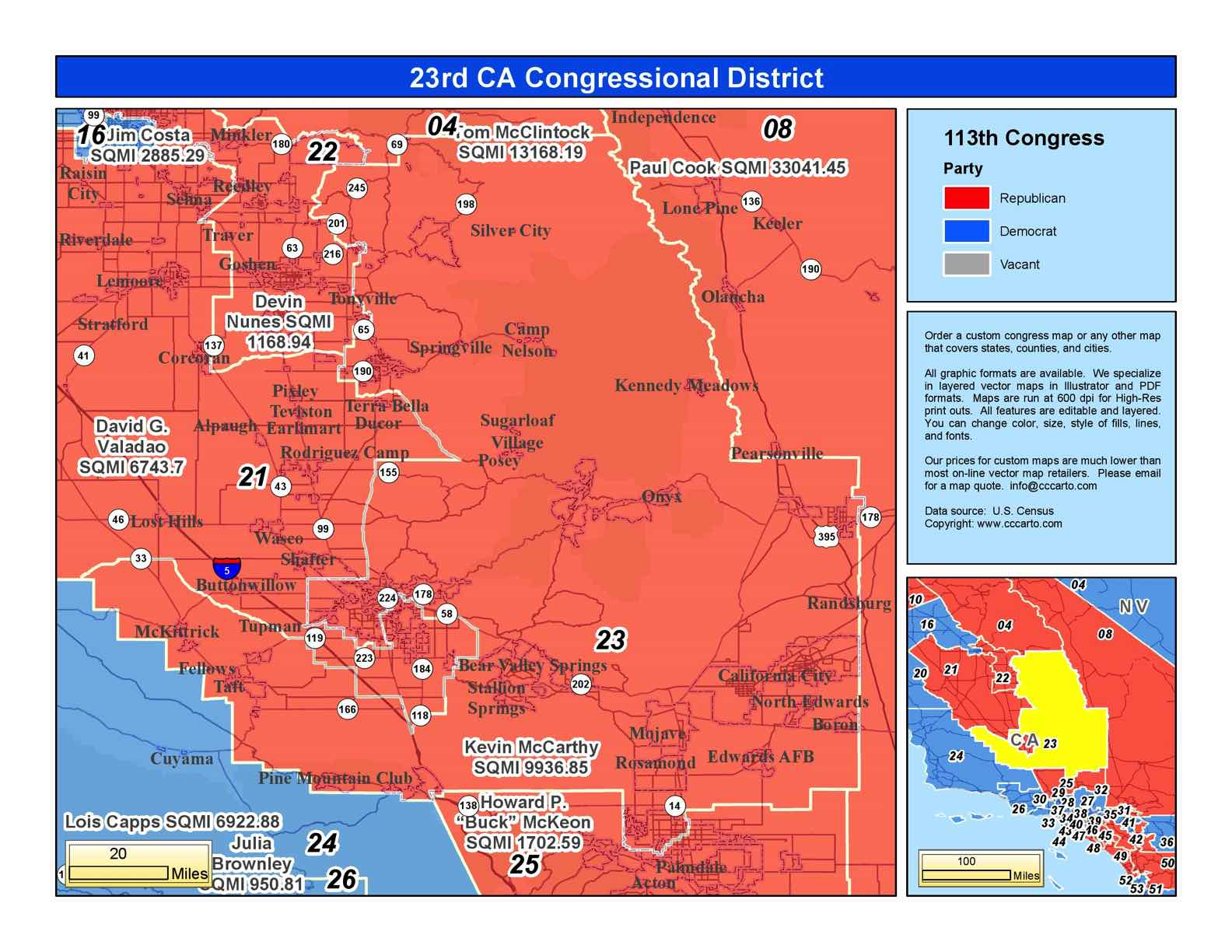 California 23rd Congressional District - Kevin McCarthy (R ...