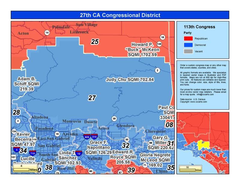 California 27th Congressional District - Judy Chu (D) District
