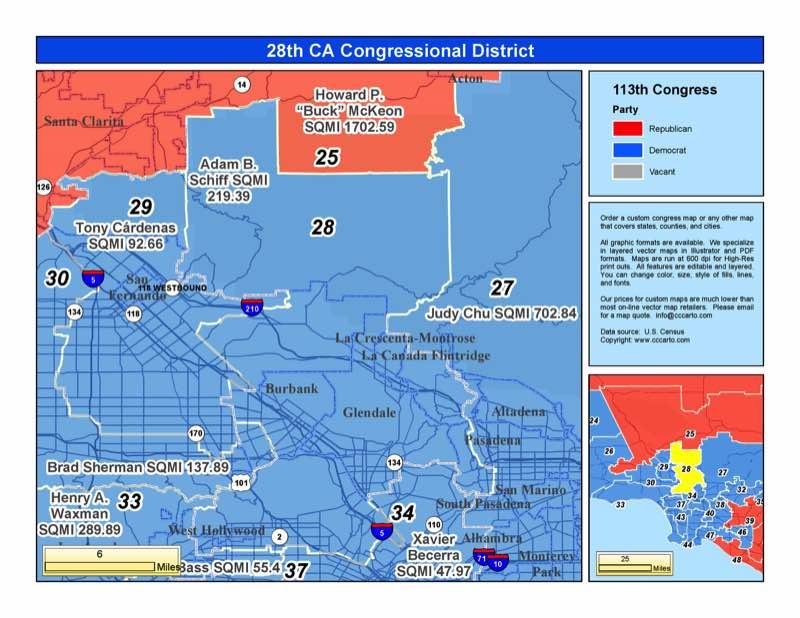 California 28th Congressional District - Adam Schiff (D ...