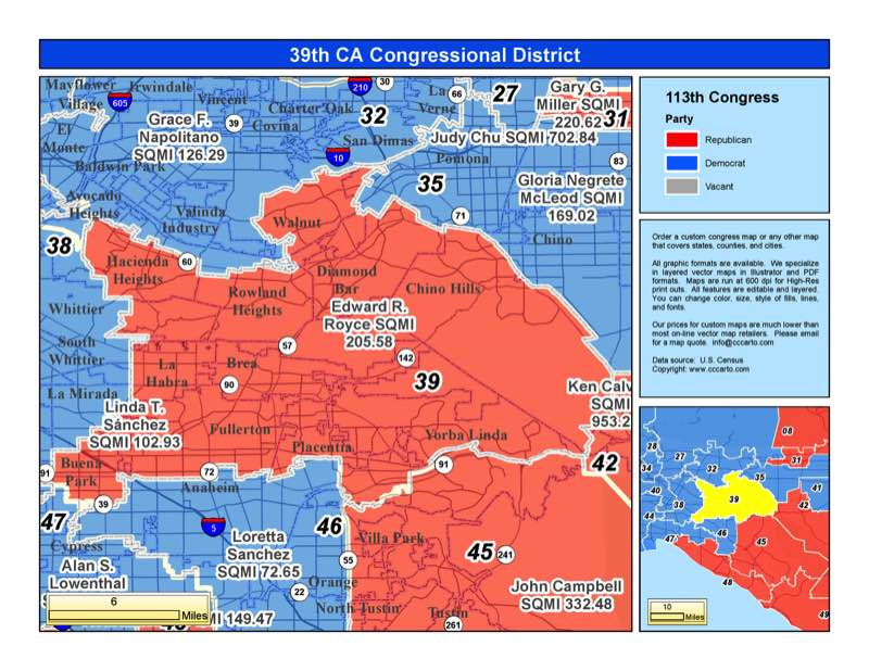 California 39th Congressional District  Ed Royce R District
