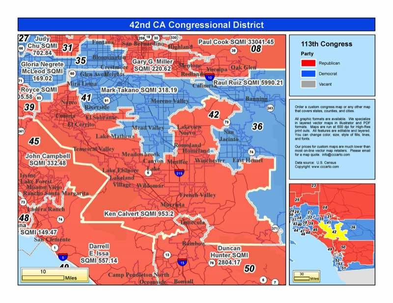 California 42nd Congressional District  Ken Calvert R