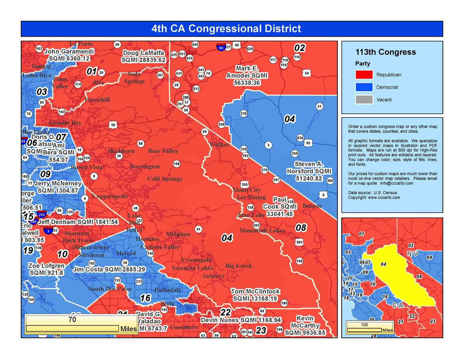 California 4th Congressional District  T McClintock