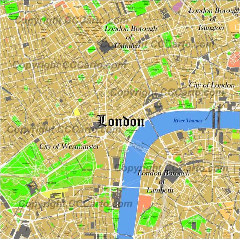 London England City Map.Order Digital City Map Files Custom Maps For Real Estate And Business