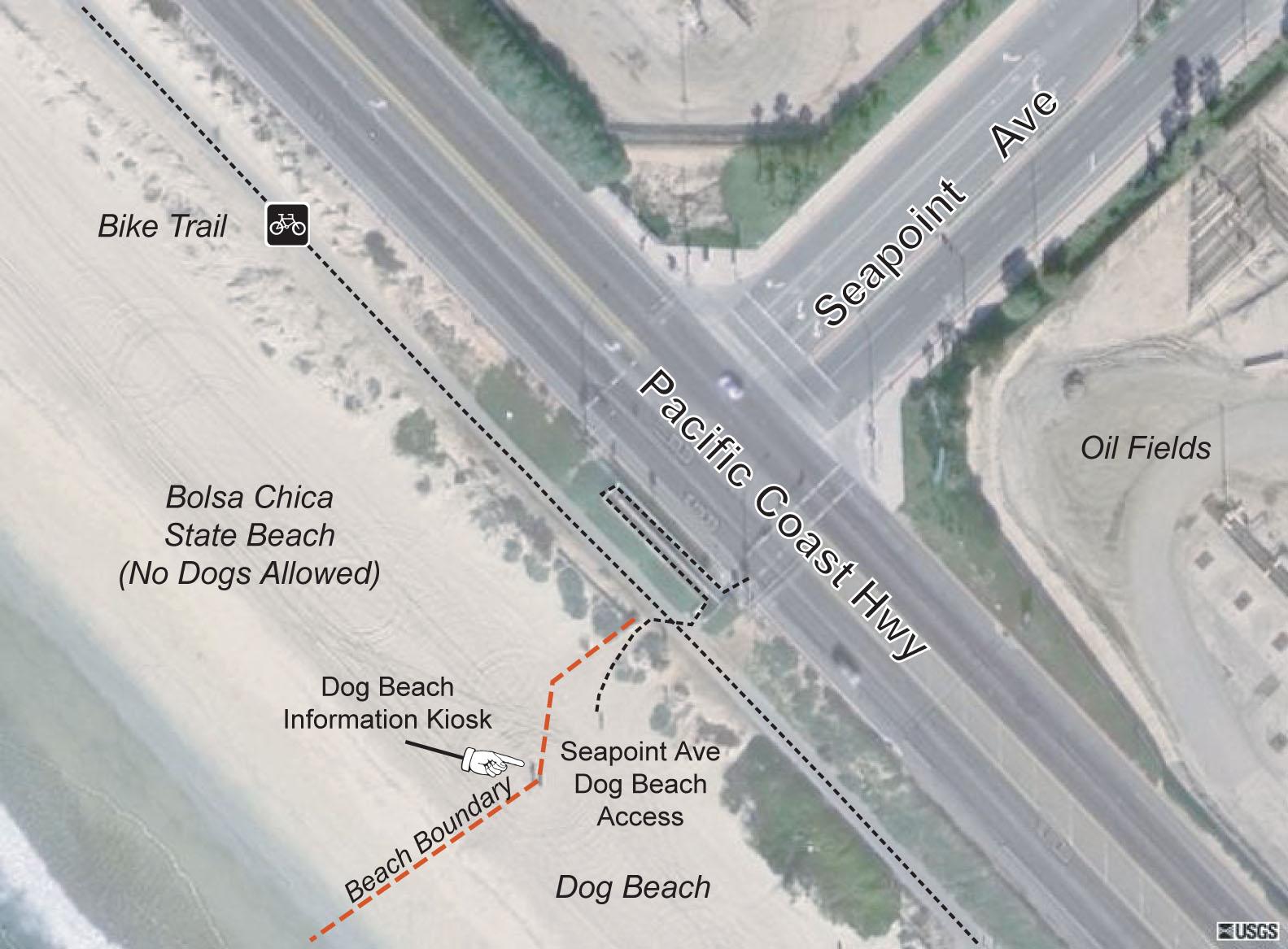 Huntington Beach Dog Beach Seapoint Access