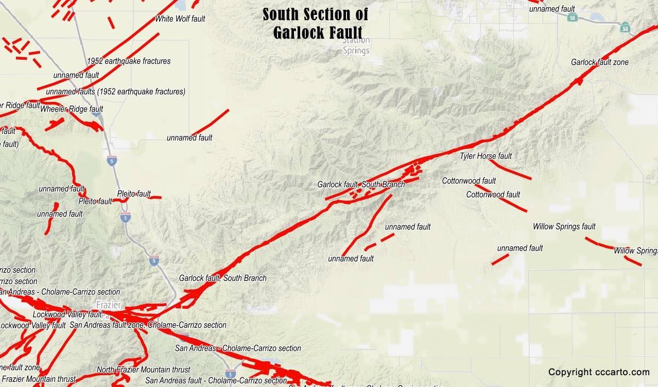 Los Angeles Earthquake Fault Map - San andreas fault map