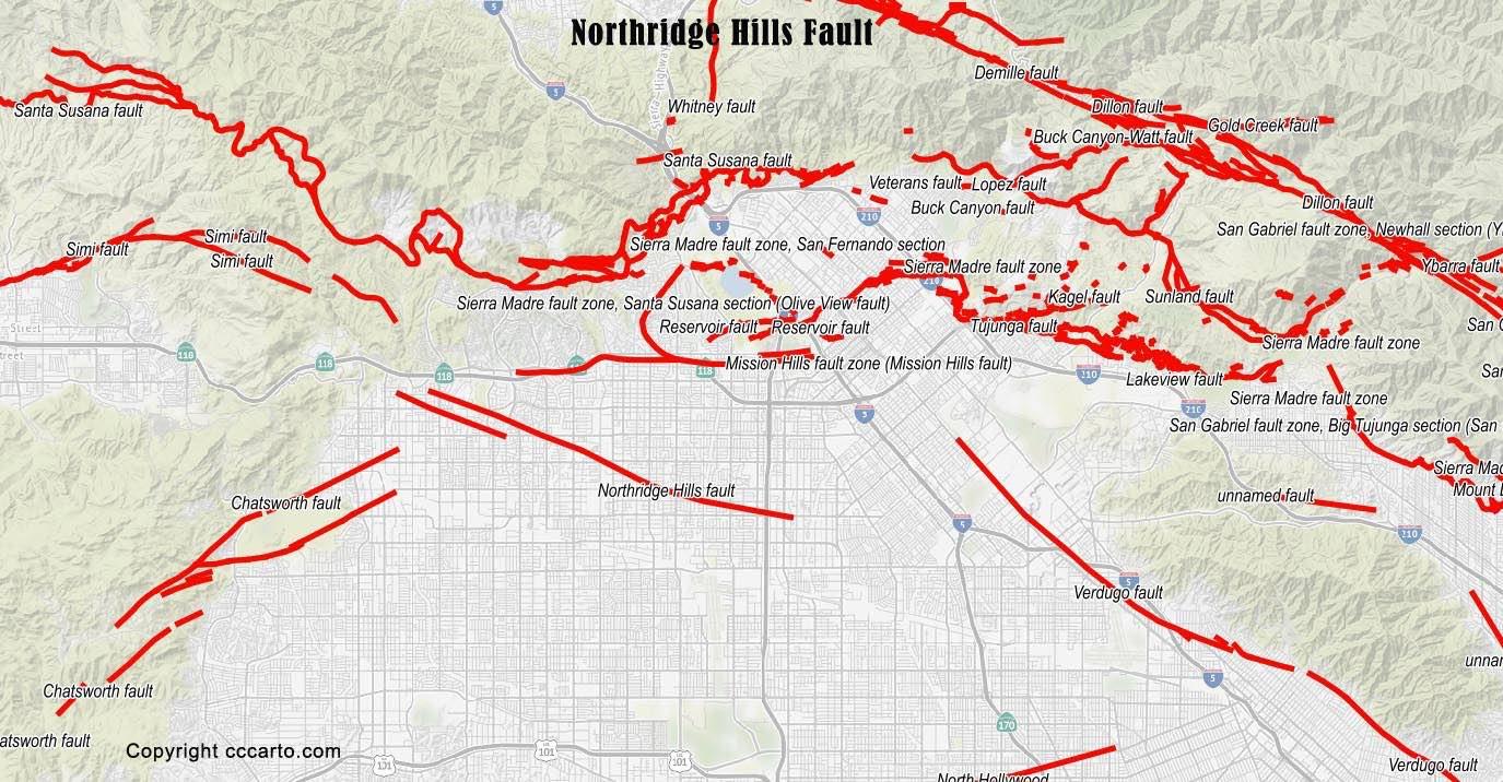 San Fernando Valley Faults