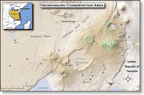 Ngorongoro Custom Map