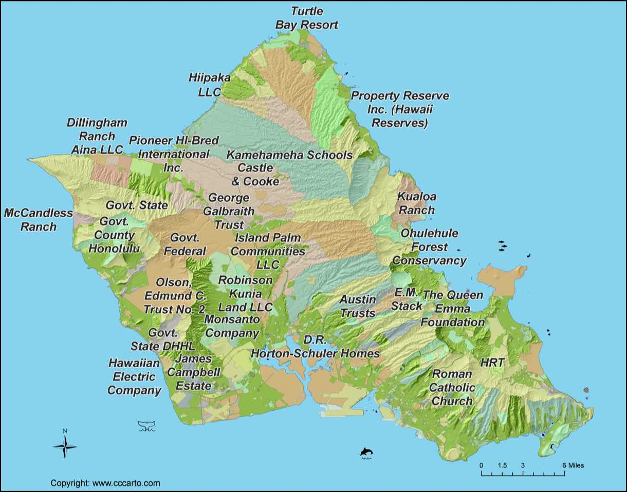 Oahu Landowners Map - Oahu Large Land Tracts on h-1 freeway map, valley of the temples map, bellows air force station map, halona blowhole map, old pali road map, oahu map, kaaawa valley map, waimea valley map, kona airport map, honolulu map, kailua map, iolani palace map, oregon convention center map, polynesian cultural center map, parker ranch map, kingdom of hawaii map, chinaman's hat map, niihau map, hawaii convention center map,