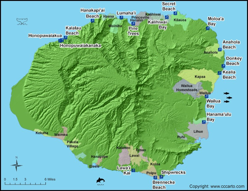 kauai surf spots map Kauai Surf Beaches Kauai Surf Areas kauai surf spots map