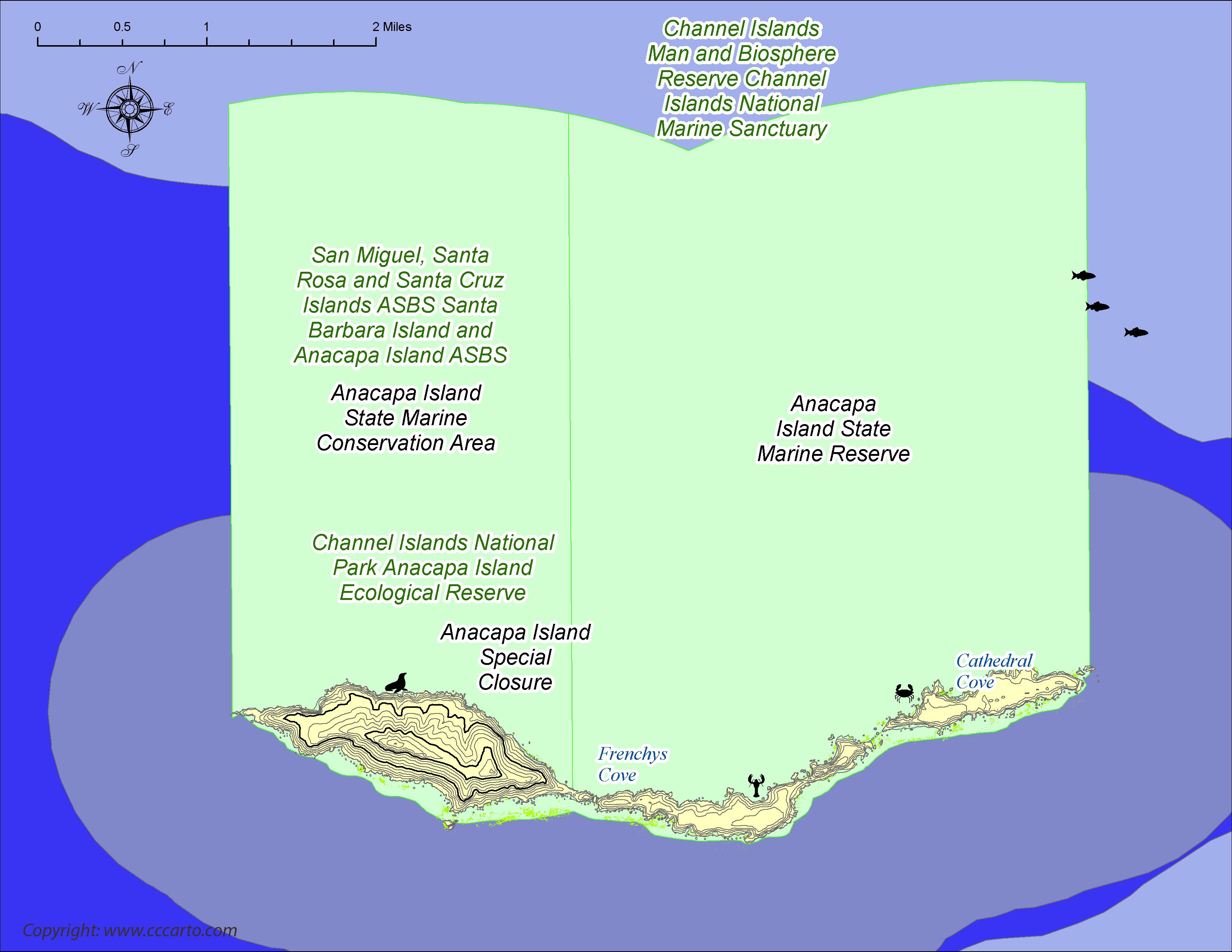 Anacapa Island Kayaking Area Reserves