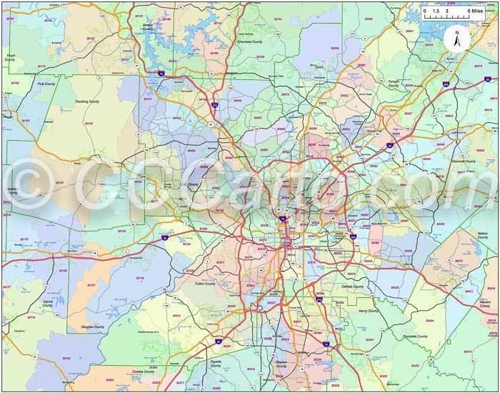Buckhead Zip Code Map.Atlanta Ga Zip Code Boundary Map Fulton County Zip Codes