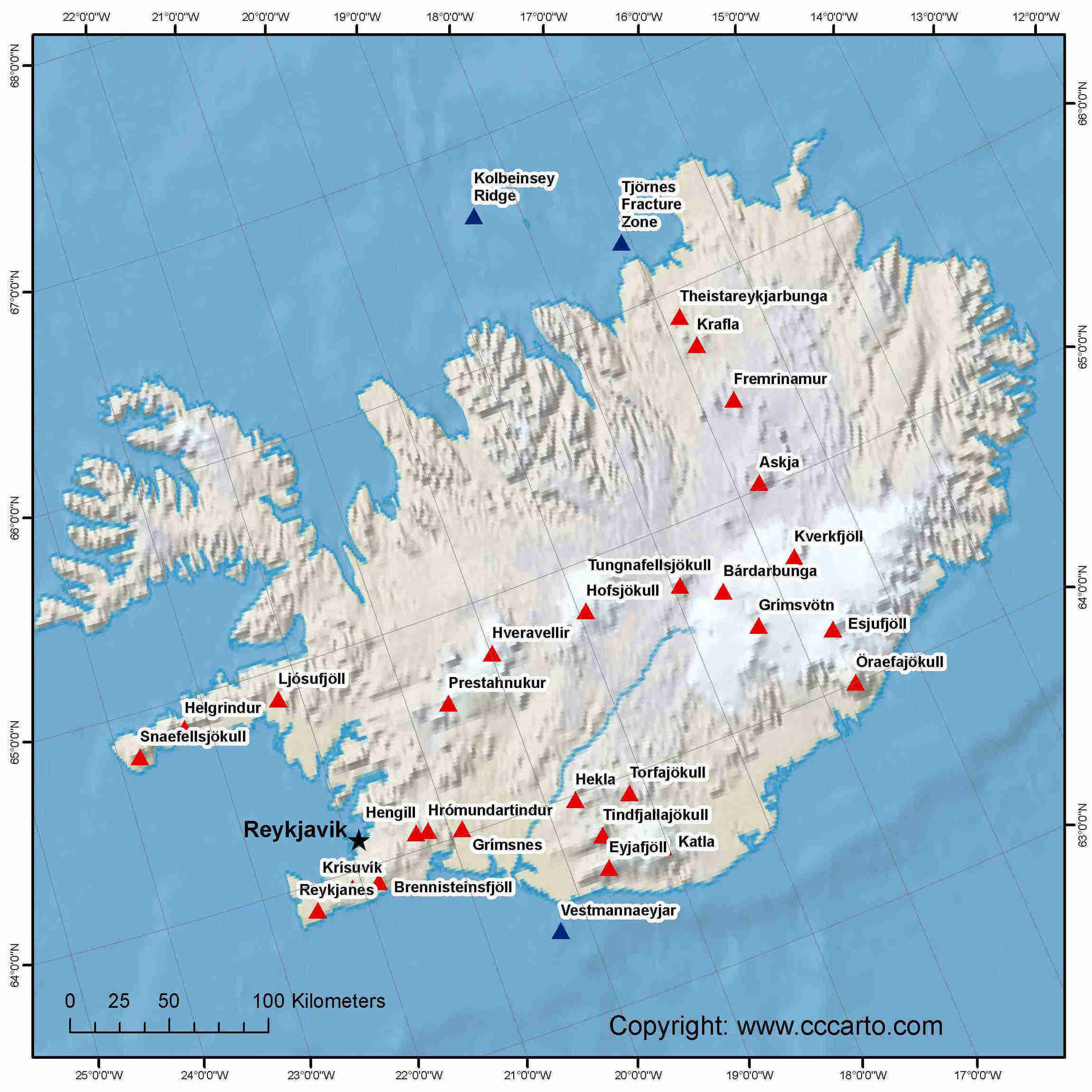 Volcanoes of the world map volcano finder iceland volcanoes map gumiabroncs Image collections
