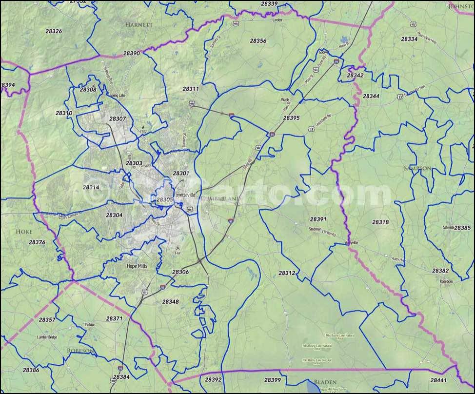 Fayetteville NC Zip Codes Cumberland County NC Zip Code Map - Us census zip code lookup