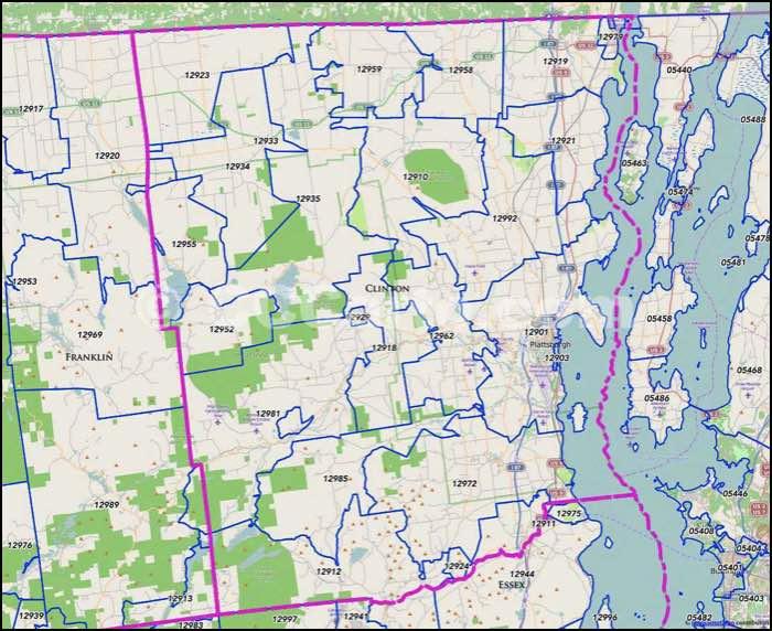 Plattsburgh Ny Zip Code Map.Clinton County Ny Zip Code Map Plattsburgh Zip Codes