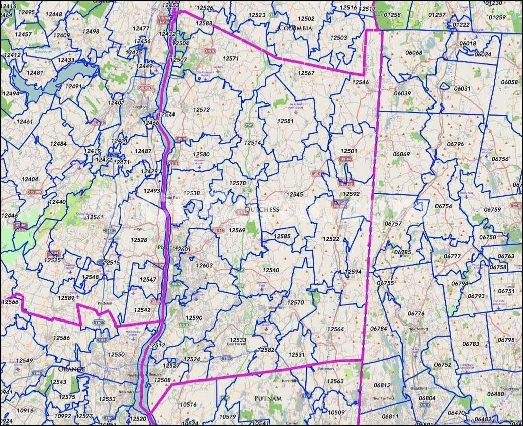 dutchess county ny zip codes map. poughkeepsie ny zip codes  dutchess county zip codes