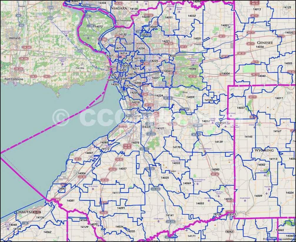 Buffalo NY Zip Codes Erie County NY Zip Code Map - Us census zip code lookup