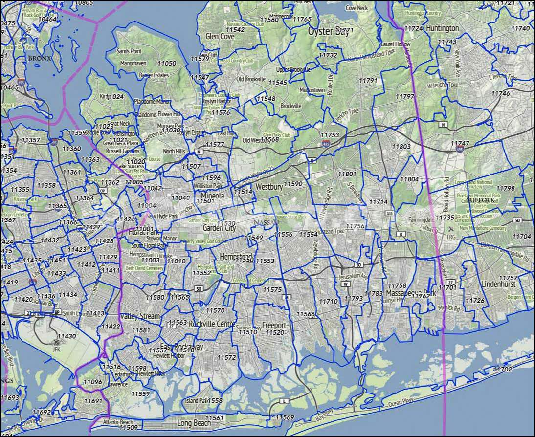 Nassau County, NY Zip Codes   Great Neck Zip Codes