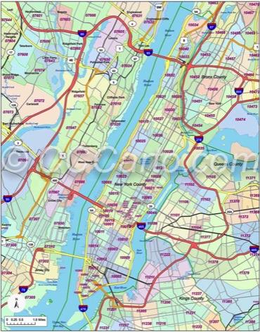 New York, NY Zip Codes