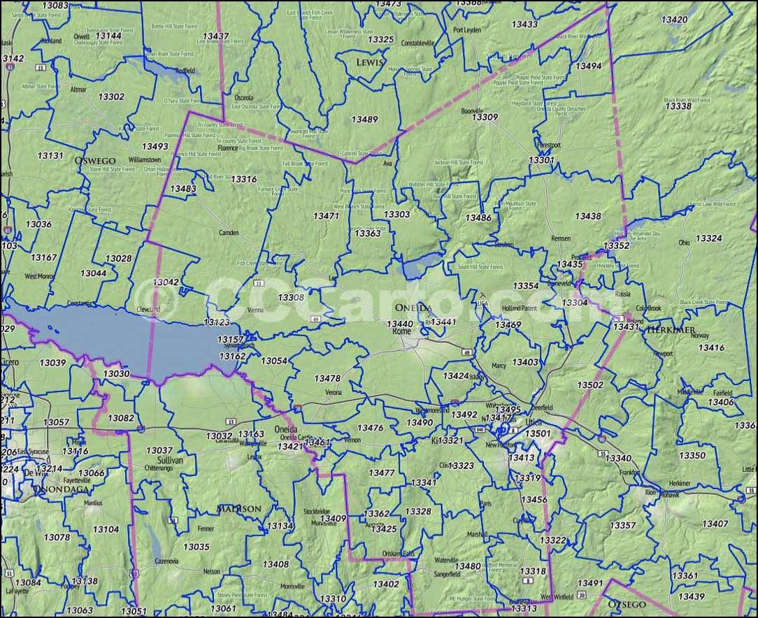 Oneida County NY Zip Codes Rome NY Zip Codes - Us census zip code lookup