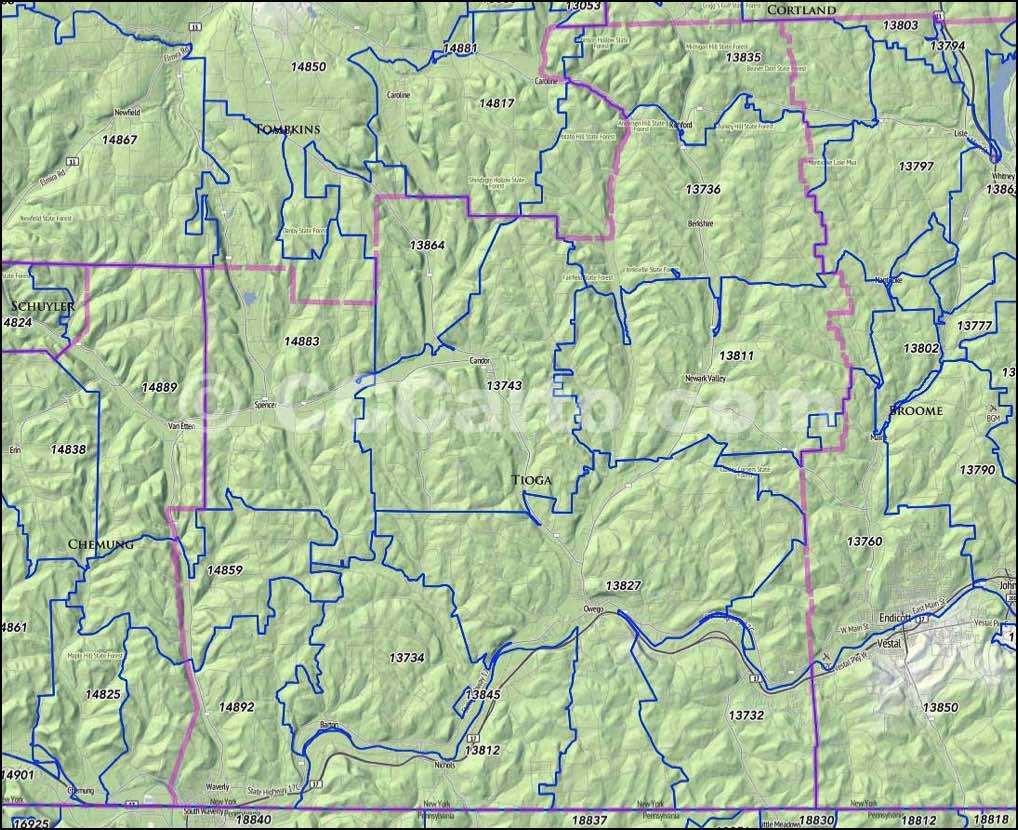 Tioga County Ny Property Maps