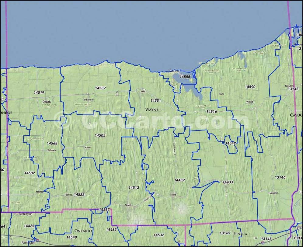 Seneca county zip codes