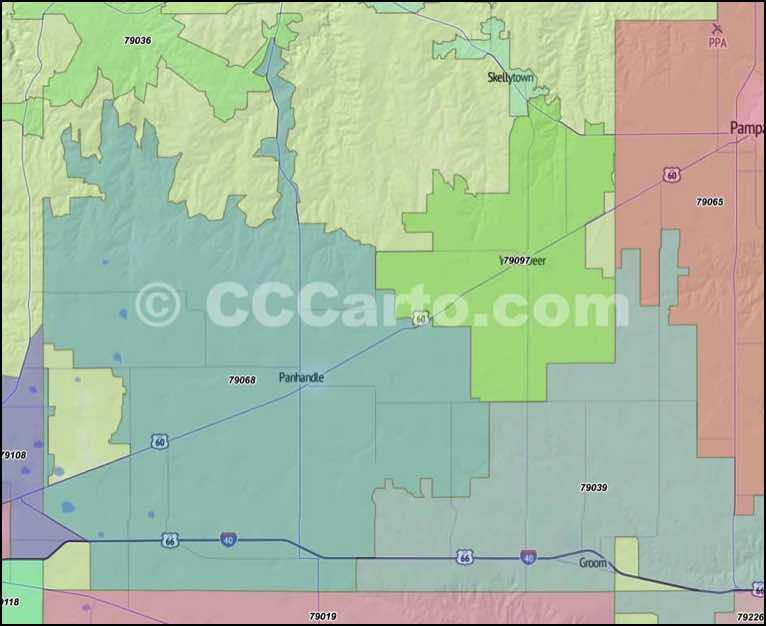 bexar county zip code map