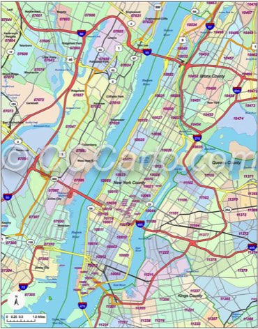 new york manhattan zip code list